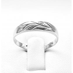 Prsten z bílého zlato s diamantem vel 62