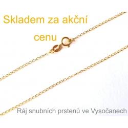 Zlatý řetízek ze žlutého zlata 45 cm