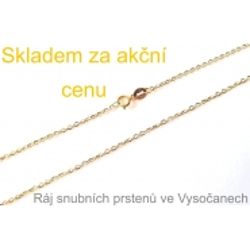 Zlatý řetízek ze žlutého zlata 54 cm