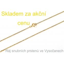 Zlatý řetízek ze žlutého zlata 52 cm