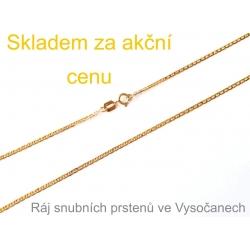 Zlatý řetízek ze žlutého zlata 55 cm