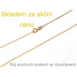 Zlatý řetízek ze žlutého zlata 50 cm