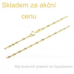 Zlatý řetízek žluté zlato 45 cm
