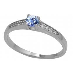 Zásnubní prsten s brilianty a topazem