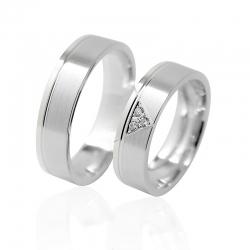 Pár zlatých snubních prstenů vel.51+61