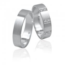 Pár zlatých snubních prstenů vel. 51+61