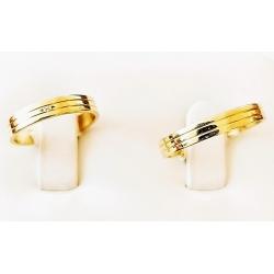 Zlaté snubní prsteny skladem
