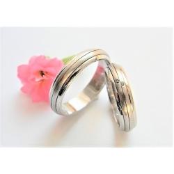 Luxusní designové snubní prsteny ze zlata