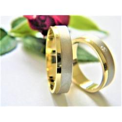 Luxusní zlaté snubní prsteny velikost 52+62