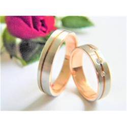 Luxusní snubní prsteny ze zlata velikost 52+63