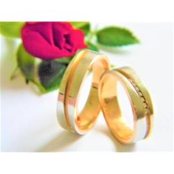 Snubní prsteny z zlata velikost 53+60