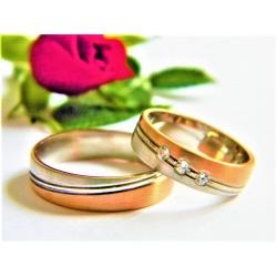 Luxusní snubní prsteny ze zlata velikost 53+65