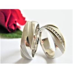 Luxusní zlaté snubní prsteny velikost 53+60