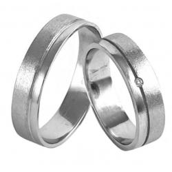 Zlaté snubní prsteny ROMANTIK WHITE vel. 51+62