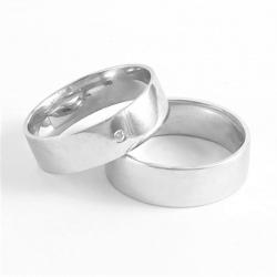 Pár širokých zlatých snubních prstenů vel.55+54