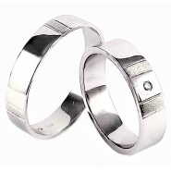 Zlaté snubní prsteny ROMANTIK WHITE vel. 53+62