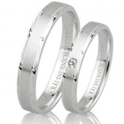 Briliantové zlaté snubní prsteny ROMANTIK WHITE vel. 51+61