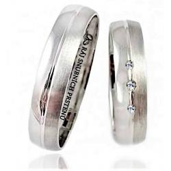 Pár zlatých snubních prstenů vel.54+64