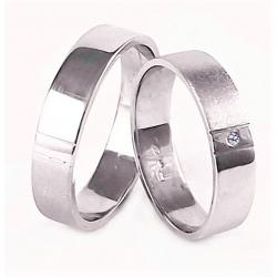 Zlaté snubní prsteny ROMANTIK WHITE vel. 57+62