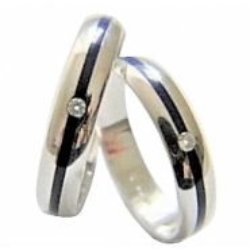 Pár zlatých snubních prstenů vel.58+64