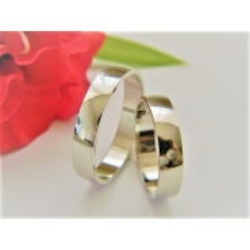 Luxusní platinové prsteny s briliantem 51+61