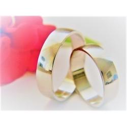 Luxusní platinové snubní prsteny 52+62