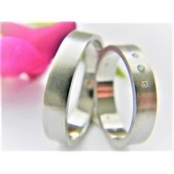 Luxusní platinové snubní prsteny s brilianty