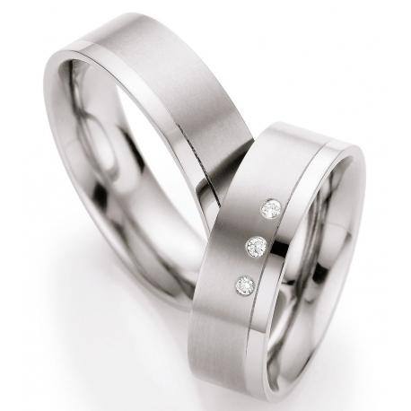 Titanové snubní prsteny s brilianty