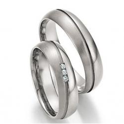 Snubní prsteny z titanu BRILLIANT SHINE