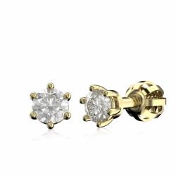 Diamantové náušnice ze žlutého zlata