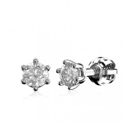 AKCE - Diamantové náušnice z bílého zlata