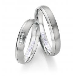 Jemné snubní prsteny z chirurgické oceli se zajímavou zdvojenou drážkou