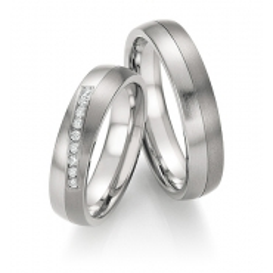 Snubní prsteny ocel s titanem