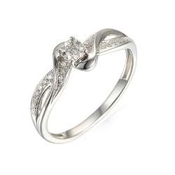 Malá ukázka - Dámské prsteny z bílého zlata - s modrým kamenem