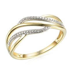 Dámské prsteny ze žlutého zlata skladem - velké velikosti
