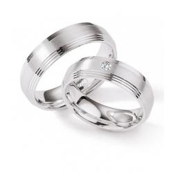Výběr z kolekce Stříbrné snubní prsteny/briliant kus od 1.999,- Kč