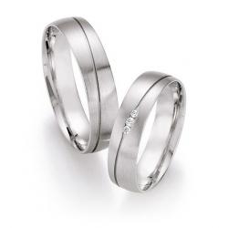 Ukázka z kolekce snubní prsteny z palladia s brilianty