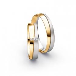 Výběr z kolekce designové  snubní prsteny žluté zlato s brilianty