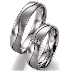 Kolekce stříbrných snubních prstenů s brilianty
