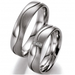 Ukázky z kolekcí - Stříbrné snubní prsteny s brilianty  Sleva -20%