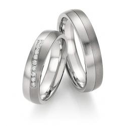 Výběr z kolekce snubní prsteny z oceli a titanu s brilianty kus od 2.999,-
